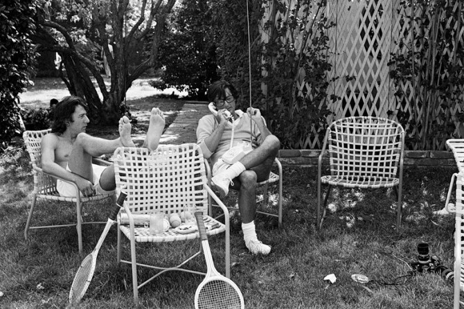 Dustin Hoffman и Robert Evans, Бевърли Хилс, 1977 © Brigitte Lacombe
