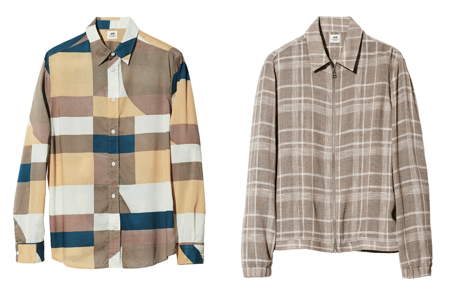 Ляво: Карирана риза, 60 лева / Дясно: Карирана windowpane риза, 75 лева
