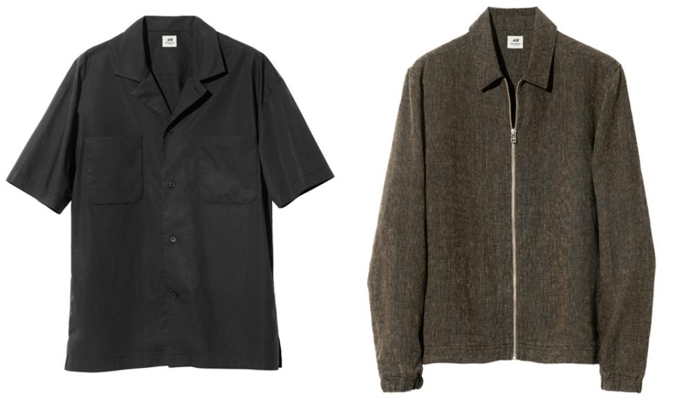 Ляво: Normcore риза с къс ръкав, 70 лева / Дясно: Тънко яке с цип, 80 лева