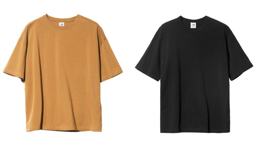 Ляво: Тениска с широки ръкави и цвят горчица, 25 лева / Дясно: Черна тениска с широки ръкави, 35 лева