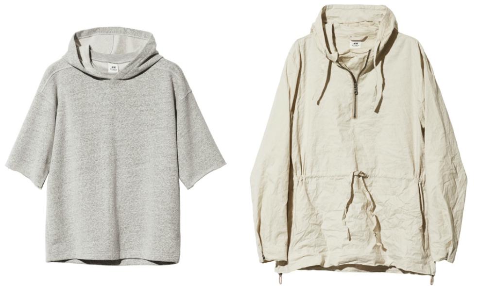 Ляво: Суетшърт с къси широки ръкави и качулка, 45 лева / Дясно: Анорак, 109 лева