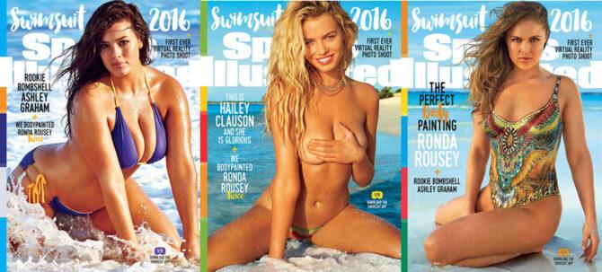 Ashley Graham, Hailey Clauson и Ronda Rousey © Sports Illustrated Swimsuit