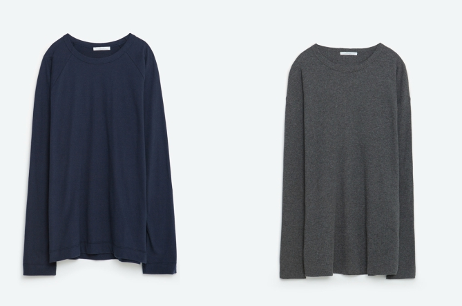 Унисекс блуза с дълъг ръкав, 26 лева / Унисекс рипсена блуза, 30 лева