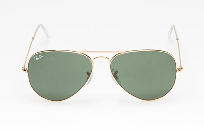 Унисекс пилотски очила със златисти рамки и зелени стъкла, 255 лева