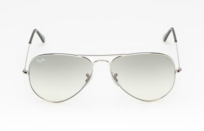 Унисекс пилотски очила  със сребристи рамки и сиви стъкла, 270 лева