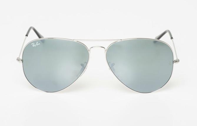 Унисекс пилотски очила със сребристи рамки и огледални сини стъкла , 295 лева
