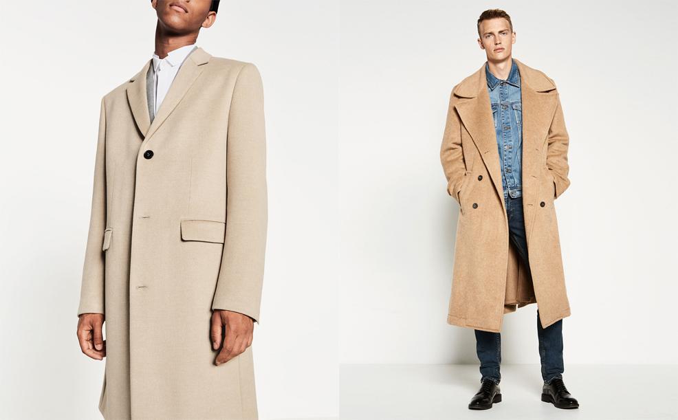 Ляво: Класическо палто с три копчета, 229 лева / Дясно: Палто с двуредно закопчаване и голяма яка, 229 лева