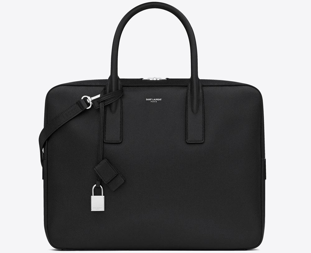 Класическо мъжко куфарче с кръгли дръжки и катинарче