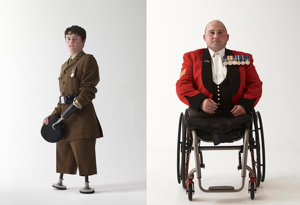 Снайперистът Craig Wood. Лондон, 2011/ Сержант Rick Clement, Лондон, 2011 © Bryan Adams